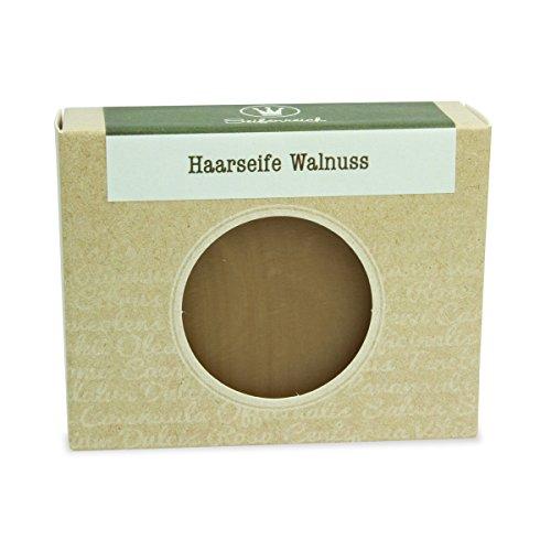 Seifenreich Shampooseife Walnuss, 1er Pack (1 x 100 g) (Walnuss-Öl 100% Natürliche)