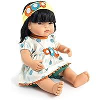 Miniland- Conjunto Calor Blusa Vestido para muñecos de 40cm, Color Amarillo, 38-40 Cm (31562)
