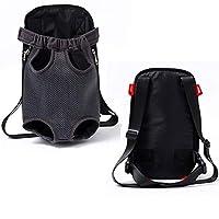HAIYUGUAGAO Outdoor Carrier Tote Bag Sling Holder Mesh Cat Puppy Dog Backpack (Color : Black, Size : S)