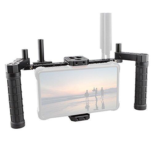 CAMVATE Monitorkäfig des Directors mit Wireless-Empfängern und V-Lock-Batterie-Montageplatte
