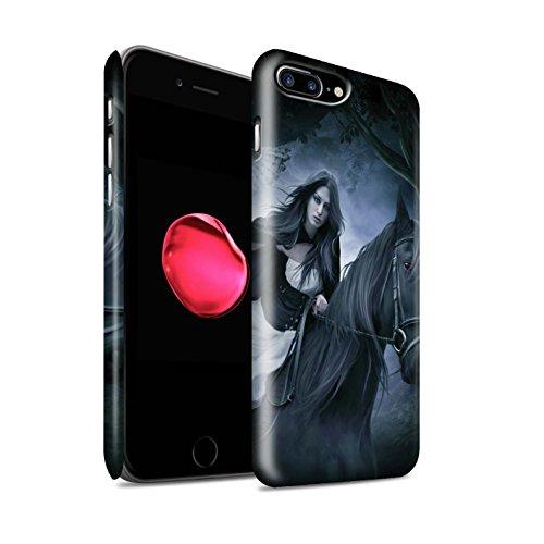 Officiel Elena Dudina Coque / Clipser Matte Etui pour Apple iPhone 7 Plus / Le Calin/Chiot/Chien Design / Les Animaux Collection Trois dans la Nuit