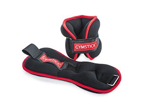 Gymstick 61024Knöchel/Handgelenk Gewicht, schwarz/rot, 2kg Rote Ankle Wrap