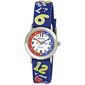 Ravel 'Tell the Time' 3D with Timeteacher Dial Children's Quartz Watch with White Dial Analogue Display and Multicolour Plastic Strap R151342