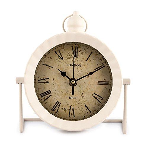 Pajoma London Horloge Murale Blanc 18 x 6,7 x 20 cm