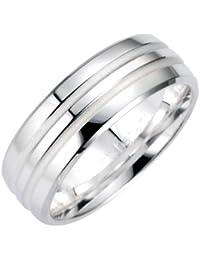 Bruno Banani Unisex-Ring 925 Sterlingsilber 49/91010