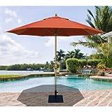 3,4m. Tropishade Marché Parapluie en brique Rouge UV et résistant aux intempéries