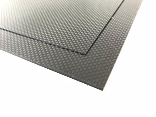 2,0 mm CF- Epoxy Platte HT Carbon Platte / CFK Kohlefaser Format ca. 520 x 260 mm geeignet für Modellbau