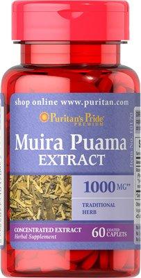 Puritans Pride Muira Puama 1000 mg 60 Capsules by Puritans Pride