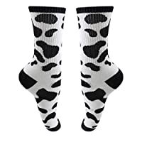 L_shop Zebra Pattern Socks 5 PCS Dairy Cow Printed Knitting Socks Animal Style Sport Cotton Socks