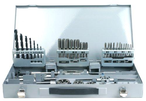 GSR PROFI 45tlg. Gewindeschneidsortiment M3-M12 HSS, Gewindeschneider, Schneideisen, Kernlochbohrer