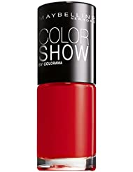 Maybelline New York Make-Up Nailpolish Color Show Nagellack Red / Ultra glänzender Farblack in knalligem Rot, 1 x 7 ml