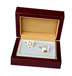 Navaksha Square Shape Cufflinks with a Micro Stones