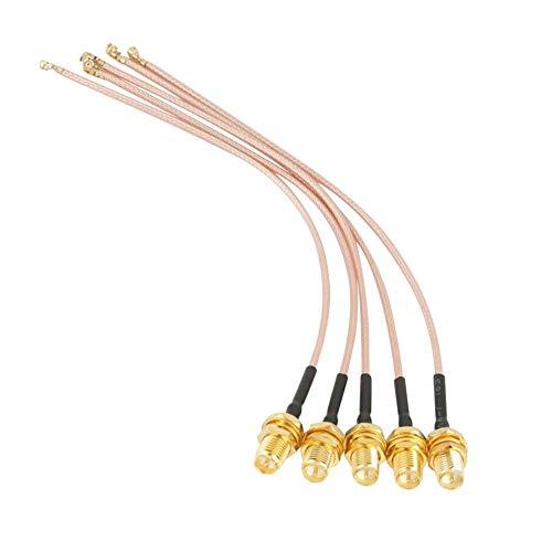 Akozon Wifi Pigtail 5 Stücke Sma-buchse zu u.FL/IPX/IPEX Rf-antenne Coax Koaxialkabel Stecker 15 cm Antennenmodifikation für verschiedene drahtlose Module/drahtlose Router/drahtlose Netzwerkkarten