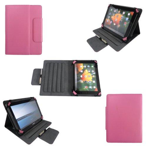 Universal tablet PC tasche 10 zoll Ultra Slim Leder Style Xeptio mit Ständer - Tasche Hülle Schutzhülle Case Cover Rosa Tablet 9.2 9.4 9.7 10 10.1 10.2 zoll für Asus Google Nexus 10, Samsung Galaxy Note 10.1 N8000 / N8010 - Samsung Galaxy Tab 2 P5110 / P5100 - Galaxy Tab 3 10.1 wifi + 3g P5200 - Galaxy Tab P7510 / P7500 - Apple iPad 2, 3 und 4 Retina - Apple iPad Air - Superpad - Captiva Pad 10 - Odys Noon / Cosmo - Easypix EasyPad 970/1370 - Acer iconia Tab A510 / A511 / A700 / A701 / A210 / A211 - Coby Kyros MID1125/MID1126 - Toshiba AT300-100 / AT300-101 / AT300-103 - Asus EeePad Transformer Pad TF101 / TF101G / TF300T / TF700 / TF700T - Asus MeMo Pad Full HD10 ME302 - TechniPad 10G - Siroco Tablet 10 - Ainol Novo 10 Hero - Archos 101 - Arnova 9 G2 / 10c G3 - I-ONIK TabletPC TP10.1-1500DC-metal - MEDION MD 98248 / LifeTab P9514 - Motorola Xoom 1 / 2 (simple or Media Edition) neu Sony Xperia tablet Z / SGPT121 Tablet S (Zubehör XEPTIO - rosa)