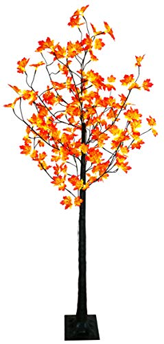 LED-Baum 190 cm mit Ahorn-Blätter (Herbst) 120 LED für innen außen