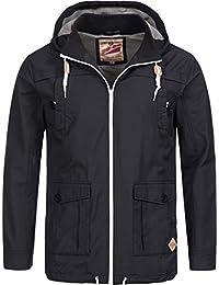 Übergangsjacke | Übergangsparka | Baumwoll-Jacke für Herren von 98-86 - eleganter Kurz-Mantel mit Kapuze, ideal für die Übergangszeit