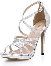 Sandali eleganti argentati per donna Minetom SOolBIAP13