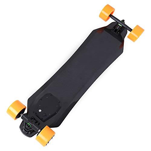GYFY Teens männliche und weibliche Erwachsene Carbonfaser vierrädrige Skateboard-Akku eingebauten supercoolen Speed-Doppel-Antrieb Fernbedienung Elektro-Skateboard