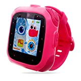 Kids Smart Watch, Activity Wrist Watches for Boys Girls, Children Smartwatch With Games, Kid Tech Video Game Photo Child Gifts, Digital Touch Screen Camera Games Sports Watch Learning Toys (Pink)