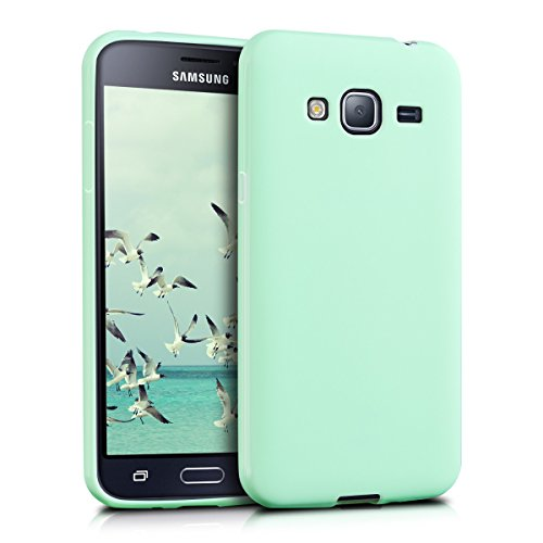 kwmobile Samsung Galaxy J3 (2016) DUOS Hülle - Handyhülle für Samsung Galaxy J3 (2016) DUOS - Handy Case in Mintgrün matt