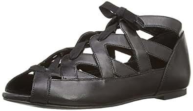 New Look  Leather, Sandales pour femme Noir Black (1), (38 EU) 5 UK