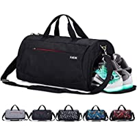 CoCoMall Sports Gym Bag with Shoes Compartment and Wet Pocket, Travel Duffle Bag for Men and Women