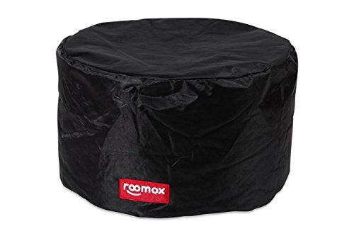 ROOMOX Tube Lounge-Sitzsack, Stoff 50 x 50 x 30 cm, schwarz