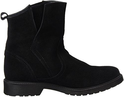 ... Buffalo London Damen 8036 Suede Kurzschaft Stiefel Schwarz (Black 01)