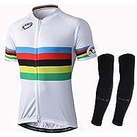 Alpediaa Maillot Ciclismo UCI World Champion,Hombres Maillots de Bicicleta Conjunto de Jersey de Manga Corta ESUCI070-1-1
