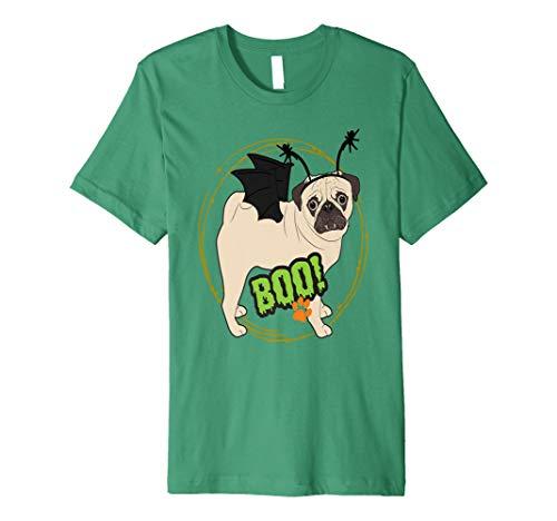 MOPS HUND Halloween-Kostüm Shirt Cute Puppy Fledermaus Vampir Boo