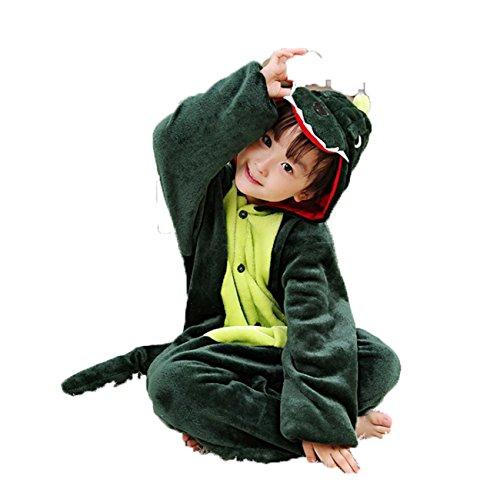 it Tier Fasching Karneval Halloween kostüm kinder Unisex Schlafanzug (140 (7-8 Jahre), Krokodil) (Halloween Kostüme Ideen Für Gruppen)