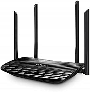 TP-Link Archer C6 Gigabit MU-MIMO Wireless Router, Dual Band 1200 Mbps Wi-Fi Speed, 5 Gigabit Ports, 4 External Antennas and 1 Internal Antenna WiFi Coverage with Access Point Mode, Qualcomm Chipset