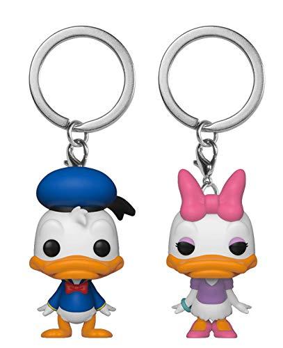 Funko 36373 Pocket POP Schlüsselanhänger 2er Pack Disney Donald & Daisy Multi