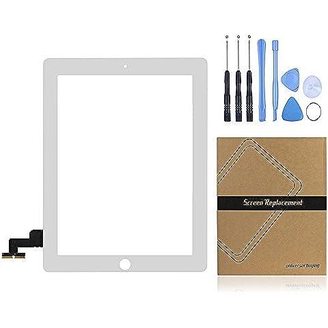 Universal de la compra (TM) iPad pantalla táctil digitalizador Panel Frontal Exterior lente de cristal de repuesto para Apple iPad 2GEN blanco blanco iPad 2 Touch