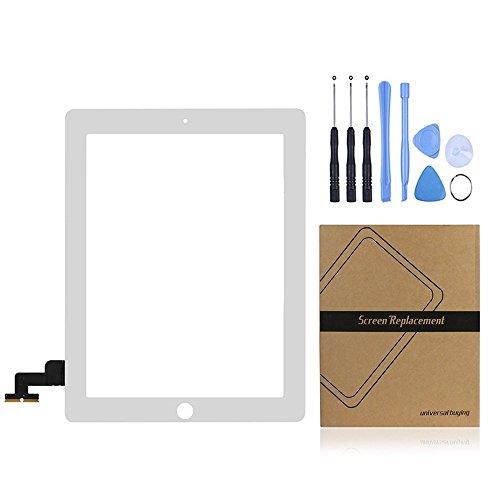 Acquisto universale (TM) iPad touch screen digitizer pannello frontale obiettivo di vetro esterno riparazione di ricambio per Apple iPad 2Gen bianco White iPad 2 Touch