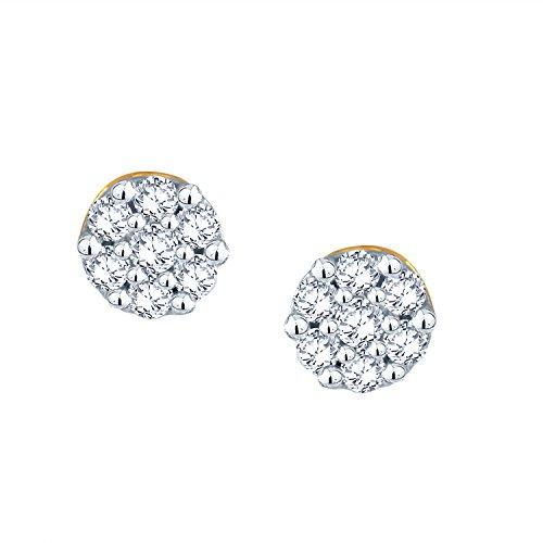 Giantti 14carats Diamant pour femme Boucles d'oreille à tige (0.25CT, VS/Si-clarity, Gh-colour)