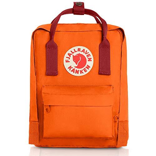 Fjällräven Unisex Rucksack Kånken Mini, burnt orange/deep red, 13 x 20 x 29 cm, 7 liters, 23561-212/325