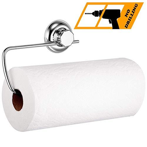 MaxHold Saugschraube Küchenrollenhalter, Befestigen ohne Bohren - Edelstahl rostfrei - Küchen & Badezimmer Aufbewahrung