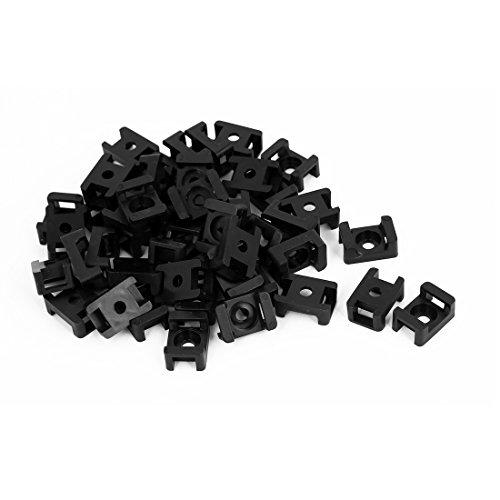 Basis-kunststoff-montage (sourcingmap® 46Stk 9mm Breite Kabelbinder Montage Basis Plastik Sattel Typ Halter Schwarz)