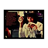 Quadro su Tela  Pulp Fiction B Raccogliere Poster Kraft Paper Poster e Stampe su Film Classici Bar Cafe Home Decor Pittura Wall Sticker 60x80cm