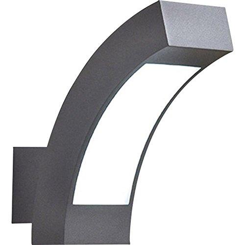 Applique murale LED extérieure renkforce Prebent LED intégrée gris foncé