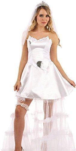 Stadt Party Kostüm Braut - Fancy Me Damen Lernender Braut Braut Hochzeit Junggesellinnenabschied Abend Party lustiges Kostüm Outfit UK 8-22 - UK 8-10