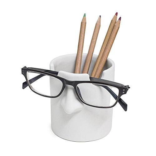 balvi Stifte-undBrillenhalterMr.Tidy FarbeWeißLegenSieIhreBrilleinHeimundBüroImmeramgleichenOrtabAusKeramik