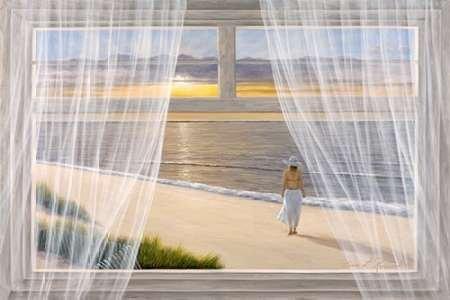 Feelingathome-Leinwand-Bild-Morgenspaziergang-cm57x86-Kunstdruck-auf-Leinwand