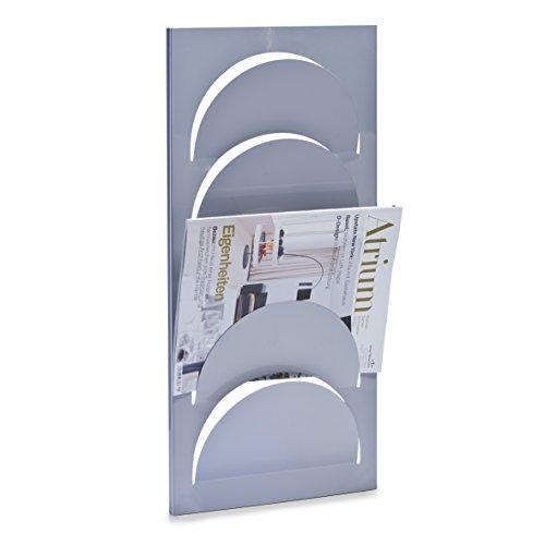 Zeller 10460 - Revistero metálico de pared (29 x 62 cm)