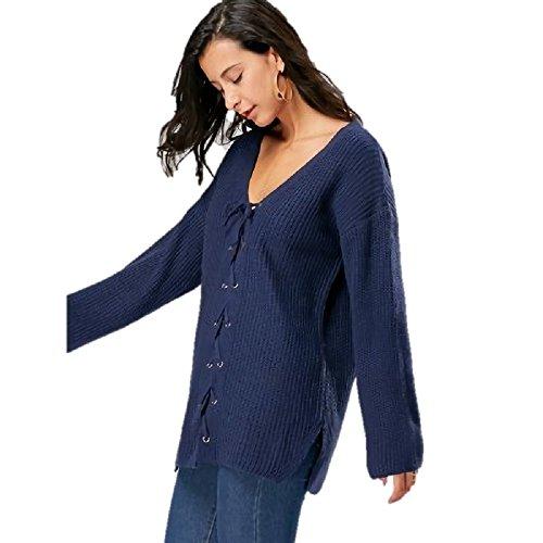 Albawear - Top à manches longues - Femme Bleu bleu Taille Unique Bleu