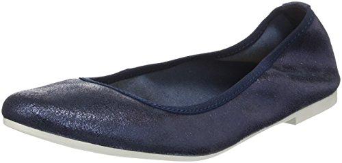 Tamaris Damen 22128 Geschlossene Ballerinas Blau (Navy Metallic)