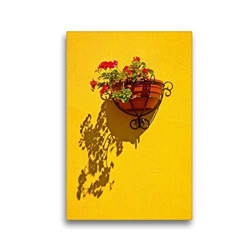 Calvendo Premium Textil-Leinwand 30 cm x 45 cm hoch, Mittelmeer Stimmung - Gran Canaria   Wandbild, Bild auf Keilrahmen, Fertigbild auf echter Leinwand. im kanarischen Stil Orte Orte