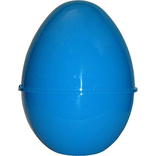 Uovo di pasqua in plastica contenitore guscio vuoto blu