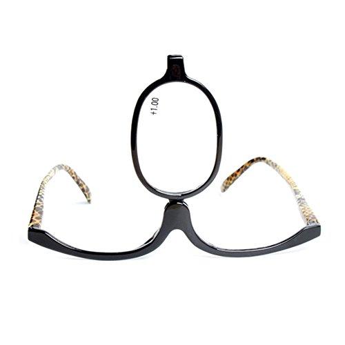 Haodasi Mode Frauen Kosmetik Lesung Make-up Brillen drehbare Frame Lesung Gläser